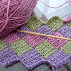 Entrelac Crochet (Tunisian Crochet).  Directions at http://www.hookyarnandneedles.com/oldstuff/node/59