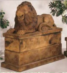 Royal Reclining Lion {Left} by Henri Studio  This statue can be purchased at www.apollostatuary.com