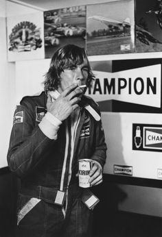 - October James Hunt (McLaren position and Jochen Mass (McLaren sit in the pit lane before the start of the race, action. World Copyright: LAT Photographic Ref: 76 JAP Japanese Grand Prix, James Hunt, Racing Events, Car And Driver, F 1, Race Cars, Classic, Fictional Characters, Motorbikes