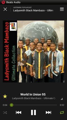 Black Mambazo one of the best African music....