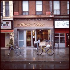 """Manic coffee in Toronto makes a mean latte. I'm happy anytime I find Intelligentsia coffee on a menu, and the high standard coffee geekery of this place didn't disappoint (overheard, between baristas: """"oh, you'll really need to re-steam that; it's too thick."""")."""