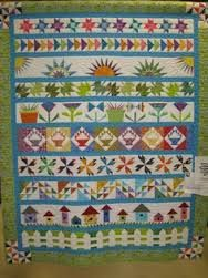 A strip row quilt using paper