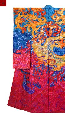 Silk Kimono -- would love to hang it from a dress form at the end of a hallway...love it.