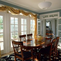 Curtains on pinterest bay windows curtain ideas and bay for Dining room jcpenney