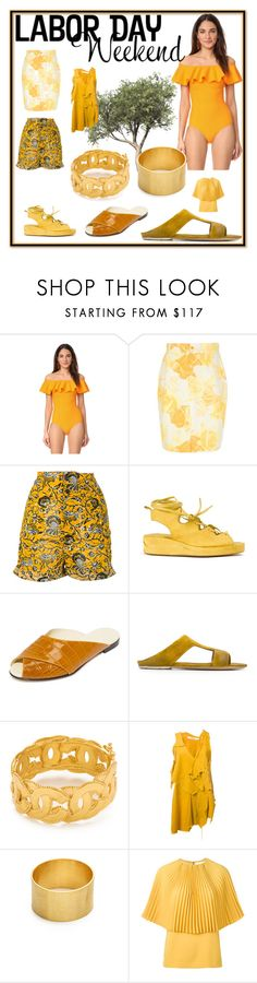 """Labor Day Weekend"" by mkrish ❤ liked on Polyvore featuring Lisa Marie Fernandez, Versace, MASNADA, TradeMark, Marsèll, DAMIR DOMA, Maya Magal and Sara Battaglia"