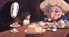 No Face, Chihiro, and Zeniba