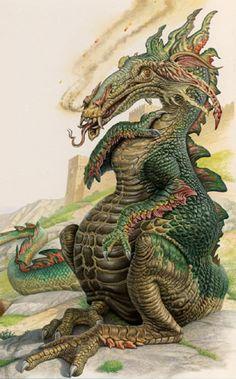 Dragon by John Sibbick for Time Life Books