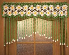 Crochet Curtain At The Doorway Camomiles Crocheted By Uytniidomik