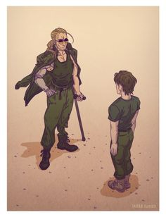 A Young Solid Snake Being Trained by Kaz. Video Game Art, Video Games, Metal Gear Games, Metal Gear Solid Series, Mgs V, Snake Art, Gear Art, The Fox And The Hound, Cultura Pop