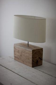 Elegant Solid Wood Base Table Light with Pale Cream Lamp Shade: Amazon.co.uk: Lighting