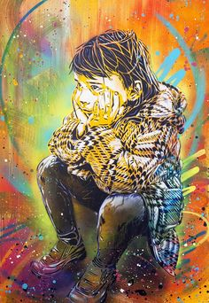 by Christian Guemy [C215] Four years ago, I told you about the work of the artist Christian Guemy aka C215, now one of the most famous artist of the French and international street art scene. Today I propose you a selection of his latest creations, combining meticulous stencils and colorful paintings into beautiful compositions that can be seen from London to Marseille through Rome, Paris, Lisbon, Sao Paolo, Dublin, Dakar, or even at the Djerbahood project.