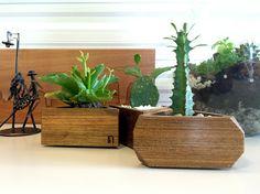 VASOS GENI | Composição de vasos em madeira esculpida. #natumadeira