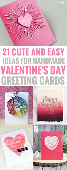 Diy Birthday Cards for Him Fresh 21 Amazingly Cute and Easy Ideas for Handmade Valentine S Homemade Valentine Cards, Valentines Day Cards Diy, Kinder Valentines, Valentines Day Greetings, Valentine Gifts, Birthday Greetings, Valentine Cards For Friends, Diy Valentines Gifts For Him, Funny Valentine