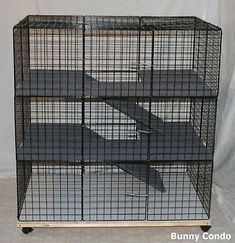 Rabbit-cage-Indoor-LARGE-BUNNY-CONDO-deluxe-hutch-pet-pen-smooth-amp-soft-floors