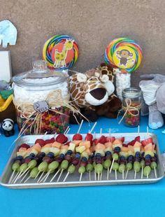 Noahs Ark Rainbow Fruit Skewers. Rainbow Fruit SkewersBirthday ...