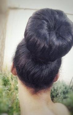 Chignon Bun, Super Long Hair, Big Hair, Kashta Saree, Donut Bun, Bouffant Hair, Big Bun, Mehndi Art Designs, Bun Hairstyles For Long Hair
