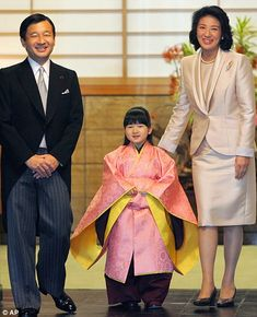 Japan's Princess Toshi with her father Crown Prince Naruhito and her ...