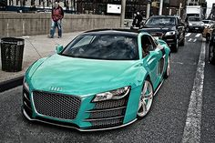 What's better than buying an R8?  Buying and R8, taking it all apart, sanding all the pieces, making a completely custom color to paint it in and then putting it back together so you can show the world how rich you are.