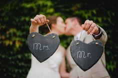 love these mr & mrs signs!! photographed by http://ahavastudios.com