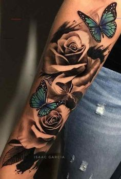 Arm Sleeve Tattoos For Women, Dope Tattoos For Women, Shoulder Tattoos For Women, Best Sleeve Tattoos, Rose Tattoo Sleeves, Female Tattoo Sleeve, Sleeve Tattoo Designs, Shoulder Sleeve Tattoos, Feminine Tattoo Sleeves