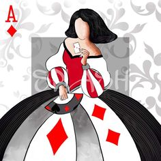Cuadro Menina poker moderna decorativa abstracto Hand Painted Pottery, Pottery Painting, Playing Cards Art, Red Images, Girl With Sunglasses, Easy Canvas Painting, Anime Dress, Anime Princess, Ceramic Figures