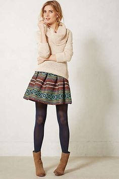 Like the feel, don't usually like turtlenecks or cowl necks (and the skirt is way too short for me, though adorable)