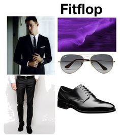 """""""elegance versace"""" by almin-sturm ❤ liked on Polyvore featuring Noose & Monkey, Ray-Ban, men's fashion and menswear"""