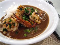 You can't go wrong with this classic seafood gumbo, which is chock-full of shrimp, fish, and oysters swimming in a broth richly flavored with gumbo crabs.