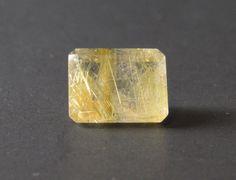 Rutilated Quartz Emerald cut