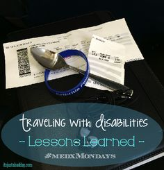 #MedxMonday  Traveling with Invisible Disabilities (plus crutches) - When you're traveling with disabilities the last thing you need is unwarranted stress.  What I've come to realize is that no matter how hard you plan ahead you're always going to run into issues. My main concern on this trip was traveling, alone, through the airports while on crutches. Here are a few of the lessons I learned... Itsjustabadday.com #medx #autoimmune #arthritis #psoriaticArthritis #crutches