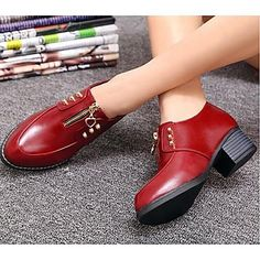 zapatos de las mujeres señalaron los zapatos de los oxfords pisos dedo del pie talón con listones más Colores disponibles - EUR € 17.18