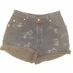 VINTAGE Levi's denim distressed shorts! Perfect denim high waisted LEVI'S! Distressed all around! Waist measures about 28'. Levi's Shorts Jean Shorts
