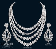 Latest collection of designer diamond necklace designs from hazoorilal Jewellers in greater Kailash, delhi. Visit today for the exquisite collection of diamond necklaces! Gold Circle Necklace, Diamond Necklace Set, Diamond Pendant, Diamond Jewelry, Diamond Bracelets, Dimond Necklace, Diamond Choker, Pearl Diamond, Pearl Pendant