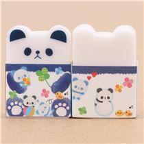 cute white panda face eraser from Japan