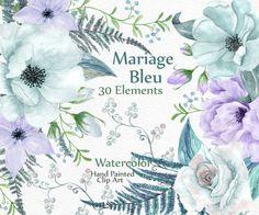 Aquarell Hochzeit Clipart: Hochzeit ClipArt von LeCoqDesign auf Etsy