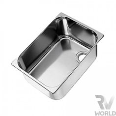 Can Rectangular Stainless Main Stainless Sink, Stainless Steel, Rv World, Large Fridge, Cooking Appliances, Van, Canning, Design, Vans