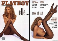 Classic Elle MacPherson Playboy cover in black tights