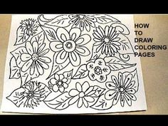 how to draw coloring pages, flowers and leaves, simple kids crafts by Emi - YouTube