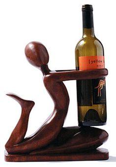 Kitchen, Dining & Bar Other Bar Tools & Accessories Sweet-Tempered Metal Wine Bottle Holder Ornament Decor Kitchen Stand Fun Drunkard Novelty Gift