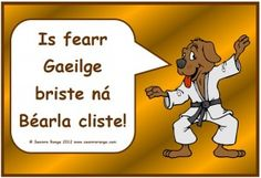 Gaeilge Briste - I think I remember this exact print but have no context for it at all.