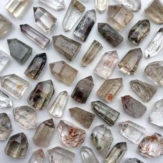 Small Herkimer Diamond crystals - high quality Herkimer Diamonds quartz for wire wrapping, crystals gifts, clear quartz crystal points Crystals Minerals, Rocks And Minerals, Crystals And Gemstones, Stones And Crystals, Crystal Magic, Crystal Grid, Crystal Healing, Wicca, Crystal Aesthetic