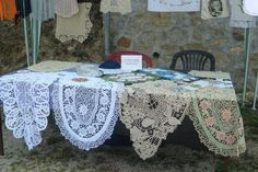 Beautiful examples of Romanian Point Lace crochet work