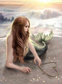 Sad Mermaid thinking of Lost Love