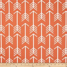 Premier Prints Arrow Macon Apache Orange from @fabricdotcom  Screen printed on cotton duck; this versatile medium weight fabric is perfect for window accents (draperies, valances, curtains and swags), accent pillows, duvet covers and upholstery. Create handbags, tote bags, aprons and more. *Use cold water and mild detergent (Woolite). Drying is NOT recommended - Air Dry Only - Do not Dry Clean. Colors include white and orange.
