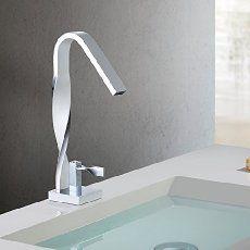 iDeko Robinet Mitigeur lavabo Luxe Moderne Noir & Flexible