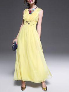 Beaded Crepe Evening OUSHIYING Beaded Crepe Evening Dress $132.00