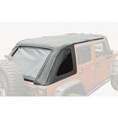 Bowless Top, Black Diamond; 07-15 Jeep Wrangler Unlimited JK, 4-Door