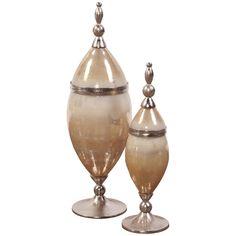 Howard Elliott Caramelized Antique Glass Urn - Small 51058