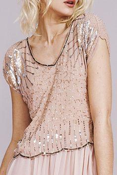 Sequin pastel pink dress. #sequin #pink #dress #fashion