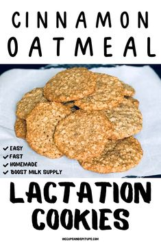 Lactation Cookies Recipe youll definitely want to have handy to boost milk supply fast when youre breastfeeding. Easy Cookie Recipes, Baby Food Recipes, Cooking Recipes, Breastfeeding Cookies, Breastfeeding Tips, Boost Milk Supply, Lactation Smoothie, Lactation Recipes, Easy Lactation Cookies